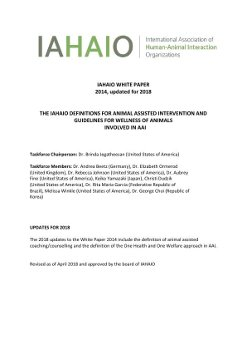 IAHAIO AAI Definitions and Guidelines