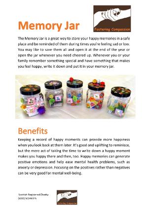 Activity Sheet - Memory Jars