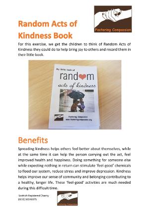 Activity Sheet - Random Acts of Kindness