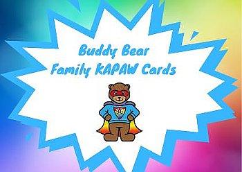 Buddy Bear Family KAPAW cards