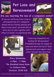 Pet Bereavement flyer